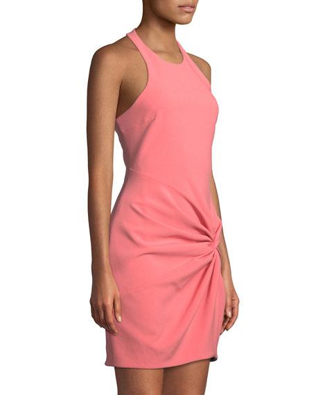 cinq a sept Knot-Front Halter Mini Dress