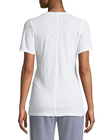 Monrow V-Neck Short-Sleeve Slub Jersey Tee
