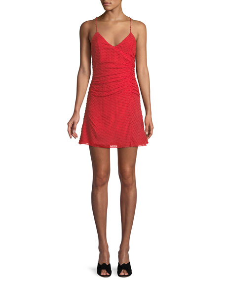 Alice + Olivia Daria Ruched Flare Dress