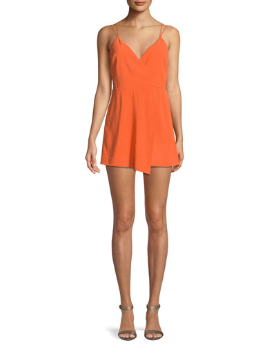 Emery Fitted Cross-Front Romper