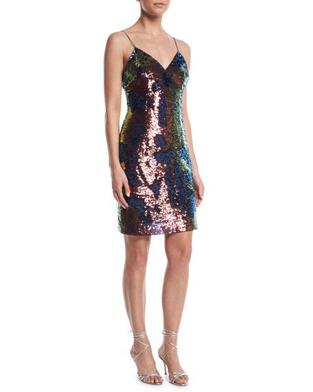 Aidan by Aidan Mattox Slip Sequin Mini Dress