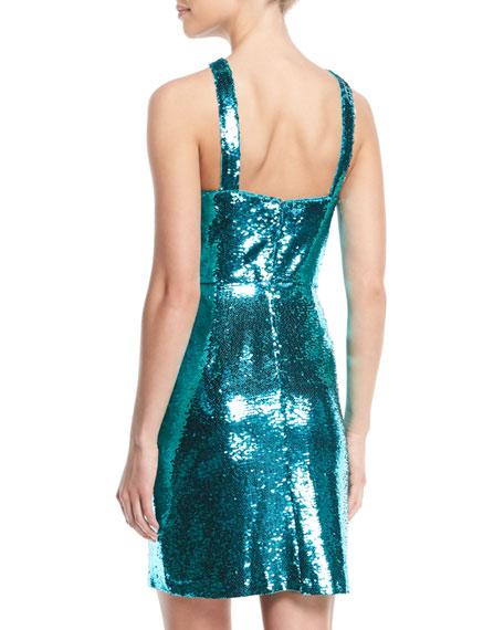 Sequin Halter Mini Dress