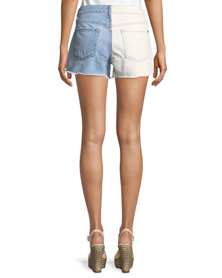Cutoff Denim Shorts w/ Destroy & Daises