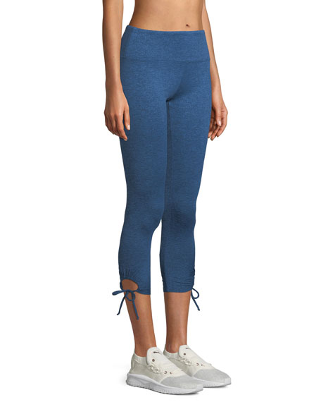 Lanston Foster Side-Tie Capri Leggings