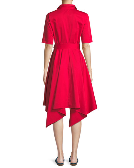 Lucy Shirt Dress w/ Hanky Hem