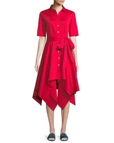 Lucy Shirt Dress w/ Hanky Hem