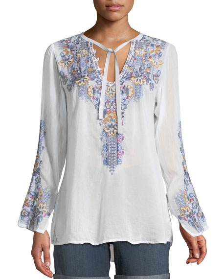 Tanya Embroidered Georgette Blouse