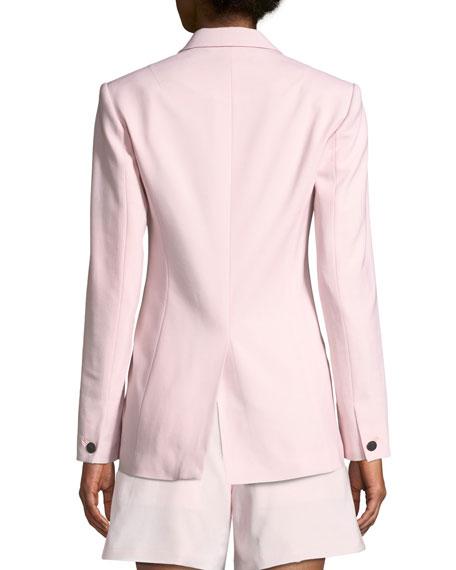Ridley One-Button Wool-Stretch Blazer