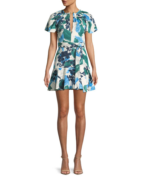 Image 1 of 5: Reede Floral Flounce Mini Dress