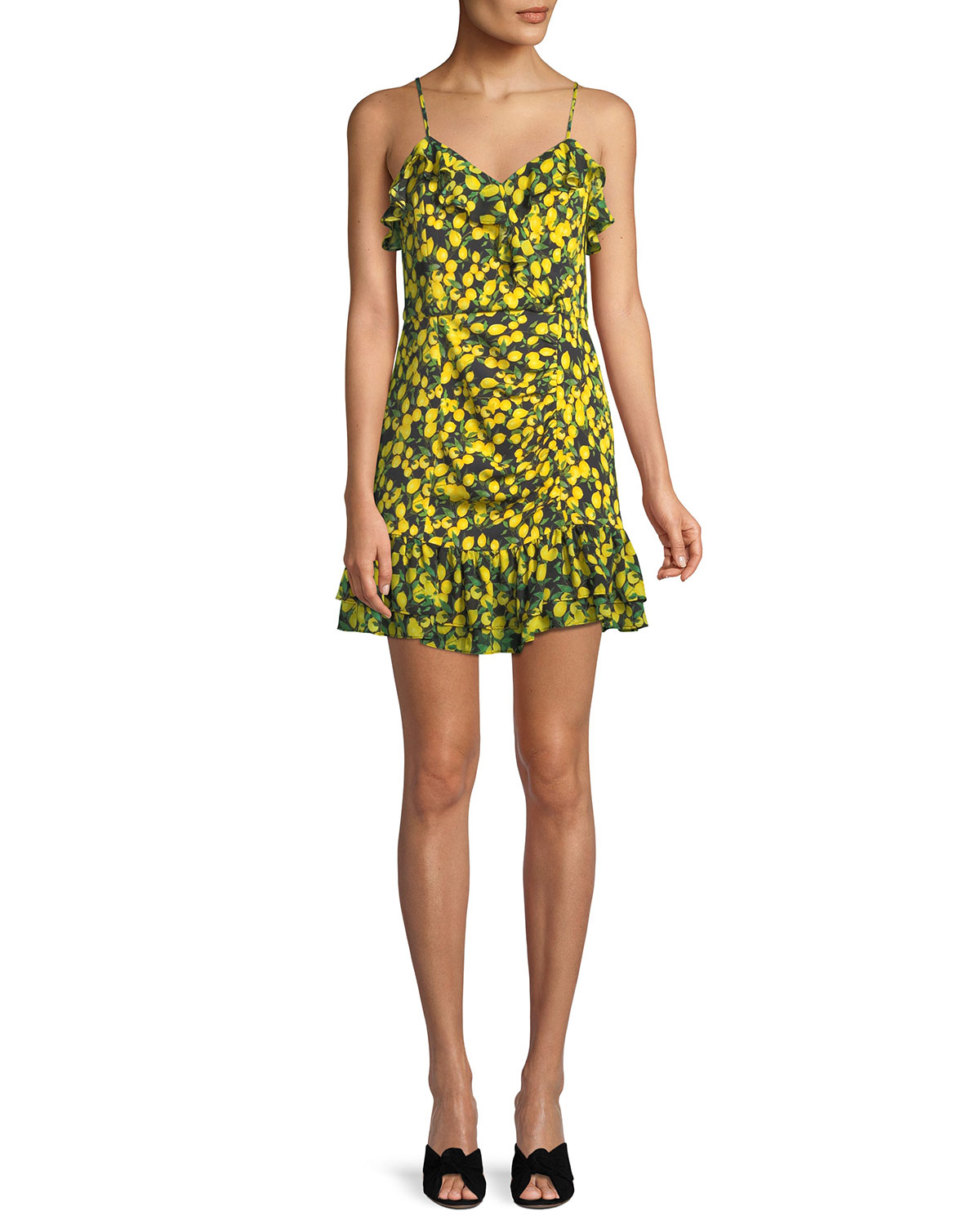 34854d8779c3 Parker Erica Lemons Ruffle Mini Dress | Neiman Marcus