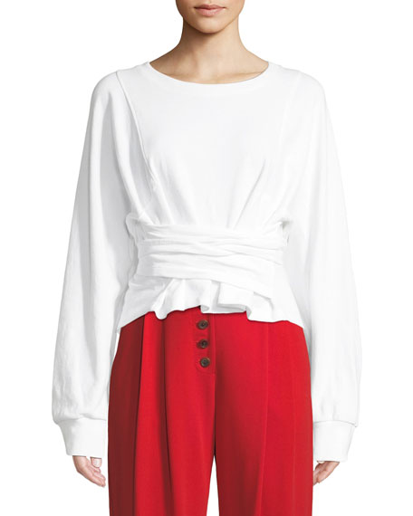 Atlas Tie-Front Sweatshirt