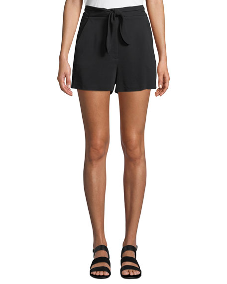 Kerry High-Waist Tie-Front Shorts