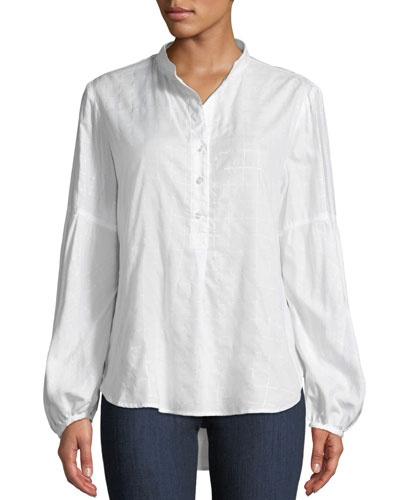 Olivia Silver Strings Button-Down Top
