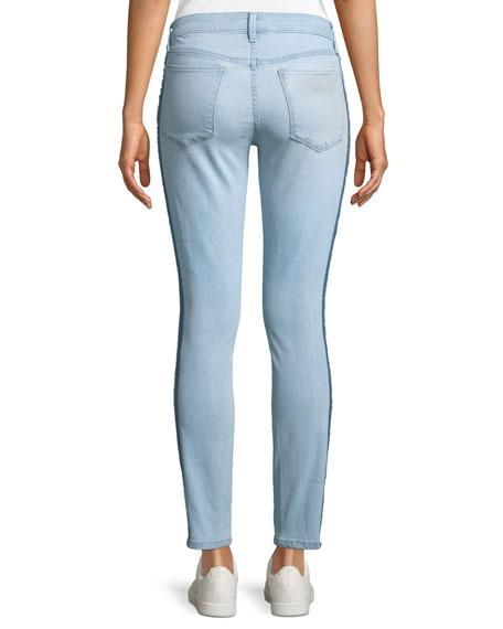Icon Tuxedo-Stripe Ankle Skinny Jeans