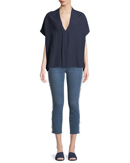 Icon Tuxedo-Stripe Cropped Jeans