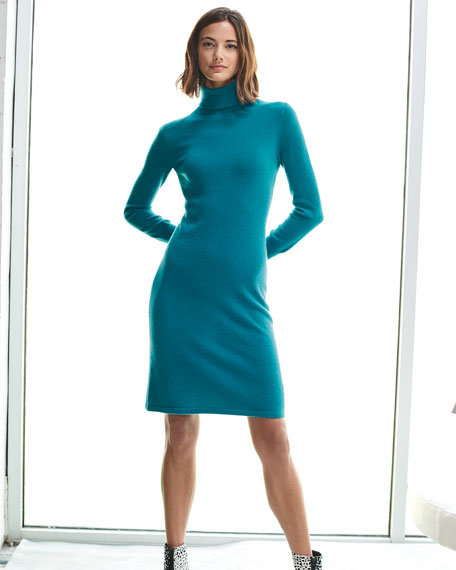 Image 2 of 4: Cashmere Turtleneck Sweater Dress