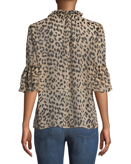 Julius Leopard-Print Button-Front Top