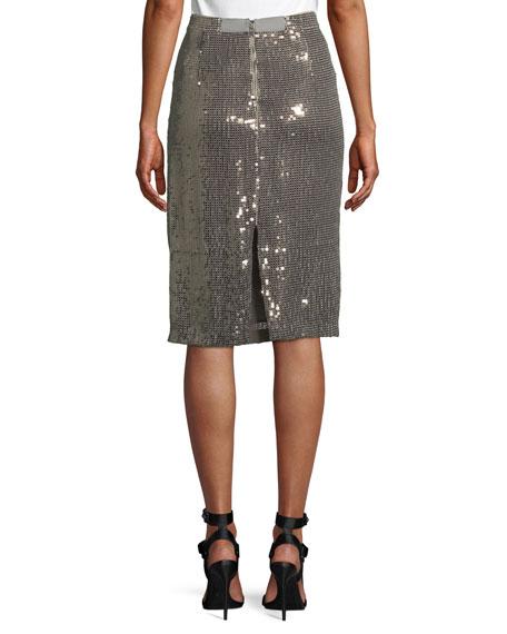 Rue Sequin Pencil Skirt