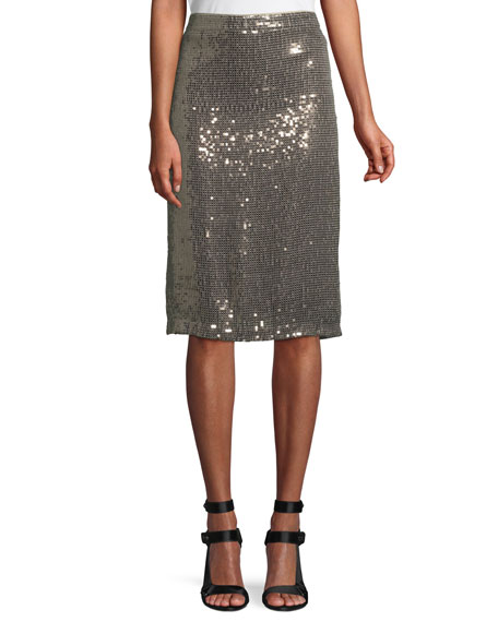 Rue Sequin Pencil Skirt