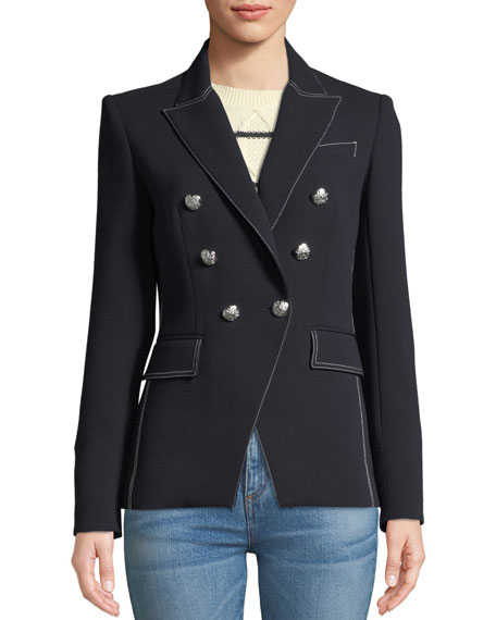 Miller Double-Breasted Blazer Jacket