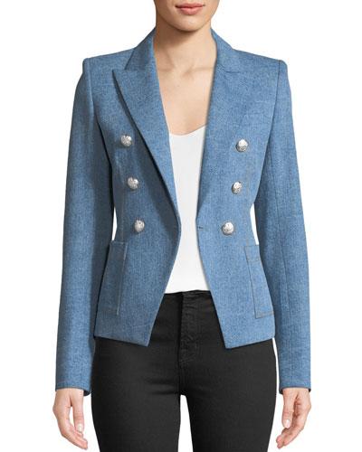 Caden Double-Breasted Dickey Jacket