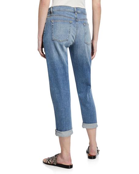 Abraded Denim Boyfriend Jeans