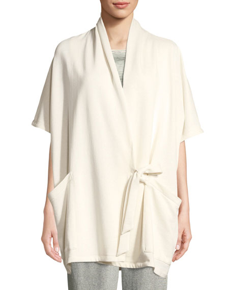 Eileen Fisher Side-Tie Kimono Wrap Jacket and Matching