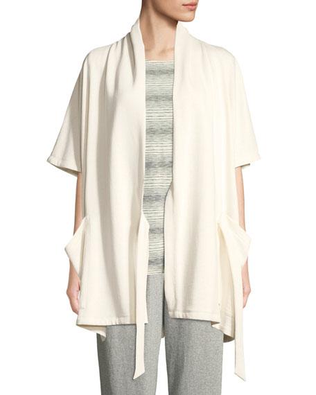 Side-Tie Kimono Wrap Jacket