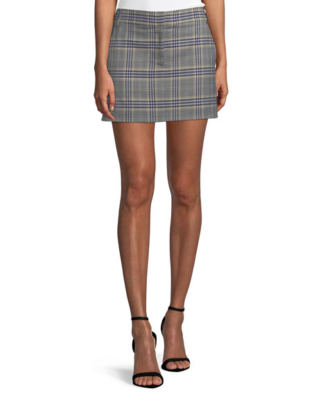 Lucas Plaid Suiting Mini Skirt