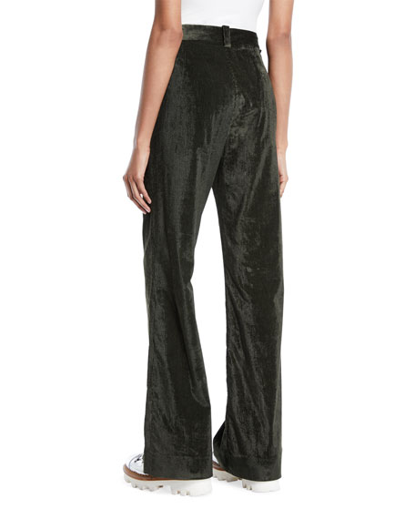 Moncler Easy High-Waist Corduroy Pants