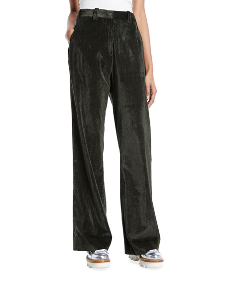 Moncler Easy High-Waist Corduroy Pants