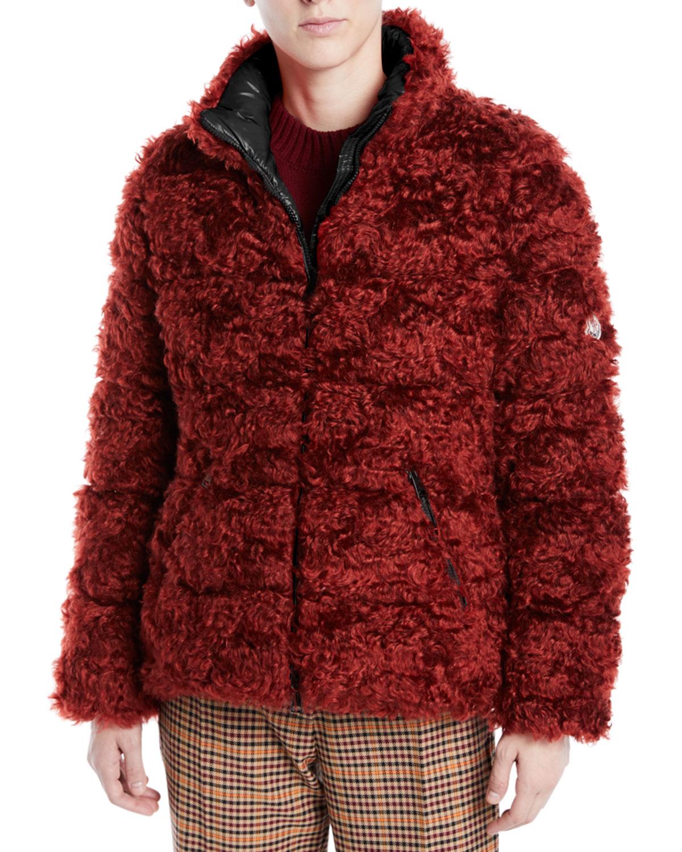 60623e5cd Badyp Mohair-Blend Puffer Jacket w/ Contrast Hood