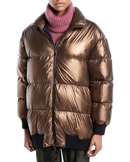 Verdier Metallic Puffer Jacket