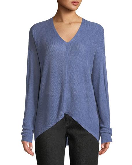 Organic Linen Box Sweater, Petite