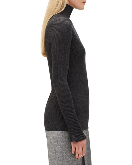 Fine-Gauge Wool Turtleneck Sweater