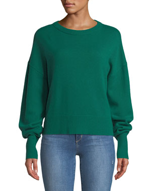 Long Drop Sweater Cashmere Sleeve Shoulder Crewneck Theory wZTFw