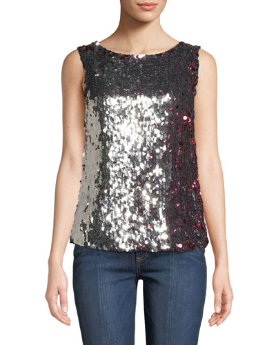 Gabby Two-Tone Sequin Tank