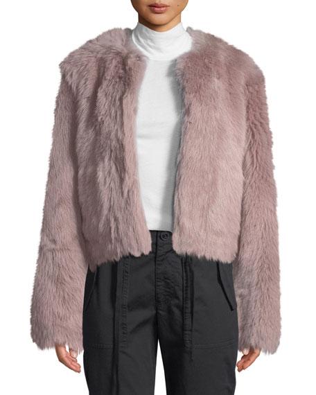 Vince Cropped Shearling Fur Coat
