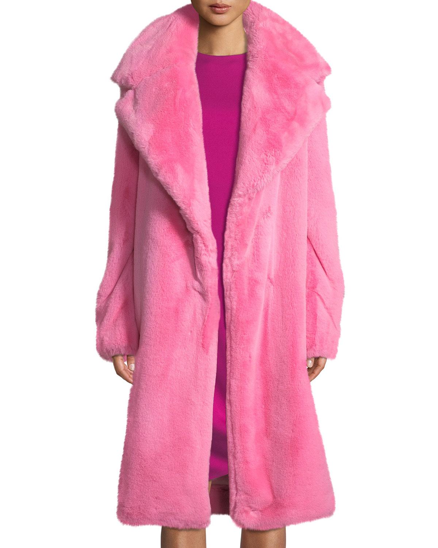 3969341cd229 Milly Riley Long Faux-Fur Coat | Neiman Marcus