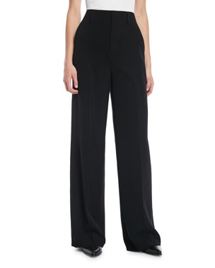 1411404df4f439 Vince High-Rise Wide-Leg Trousers