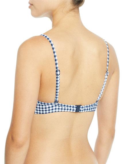 Seafolly Capri Check Underwire Bikini Swim Top