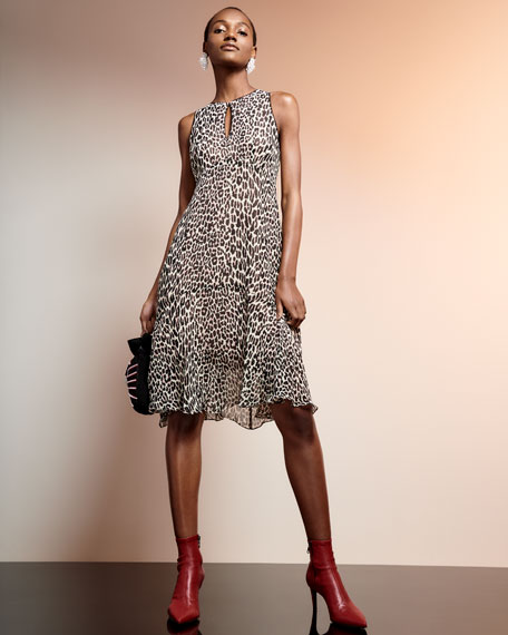 Ferocious Leopard-Print Sleeveless Dress