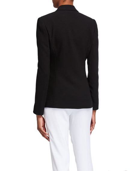 Image 2 of 3: Elie Tahari Wendy One-Button Blazer Jacket