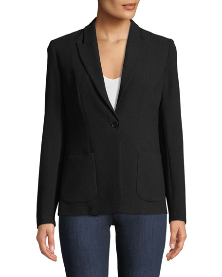 Image 3 of 3: Elie Tahari Wendy One-Button Blazer Jacket