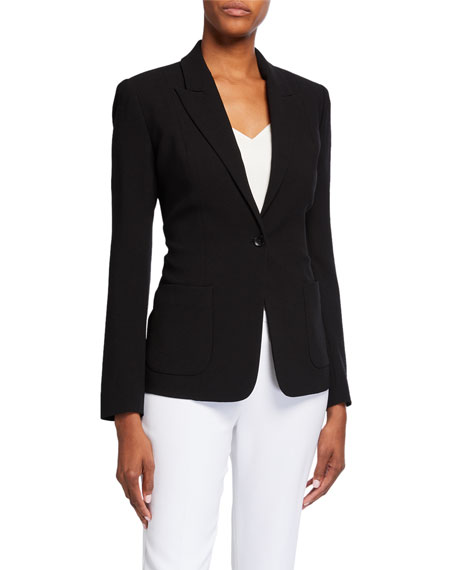 Image 1 of 3: Elie Tahari Wendy One-Button Blazer Jacket