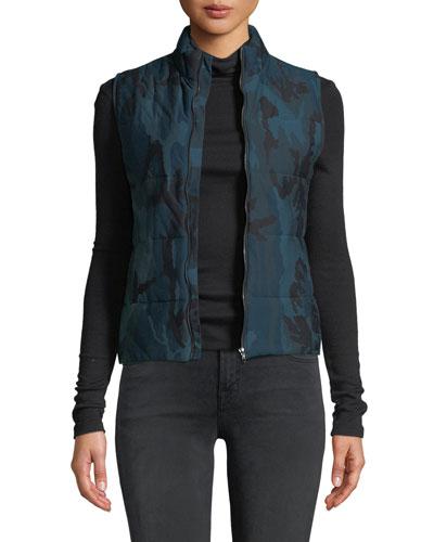 Quilted Camo-Print Vest