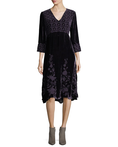 Parina Velvet Midi Dress, Petite