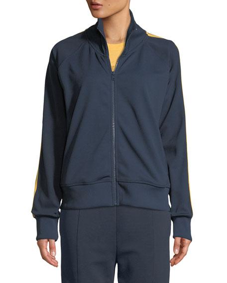 Side-Stripe Zip-Front Track Jacket