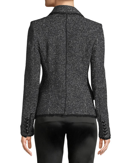 Frisco Double-Breasted Tweed Jacket