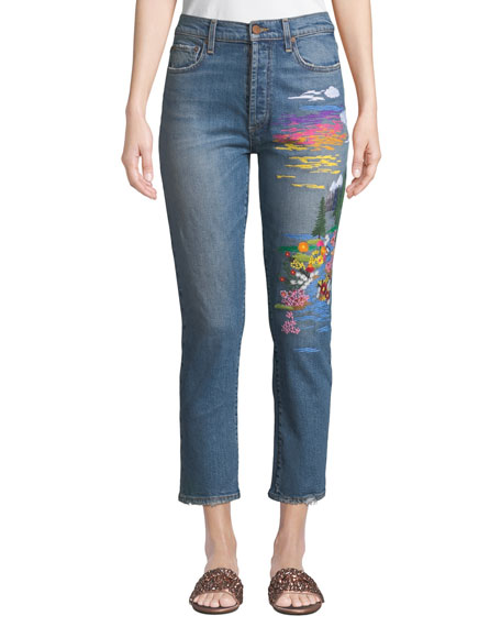 Amazing High-Rise Slim Girlfriend Jeans